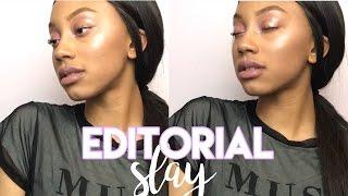 Easy Glowy + Glossy Editorial Tutorial✨ | karmelkay