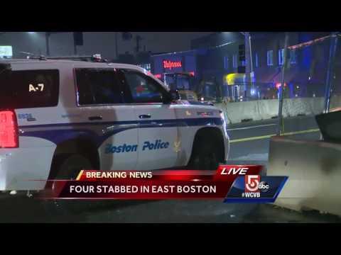 4 people stabbed in East Boston