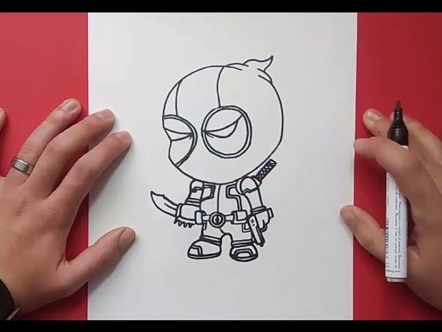 Como Dibujar A Deadpool Paso A Paso How To Draw Deadpool Youtube