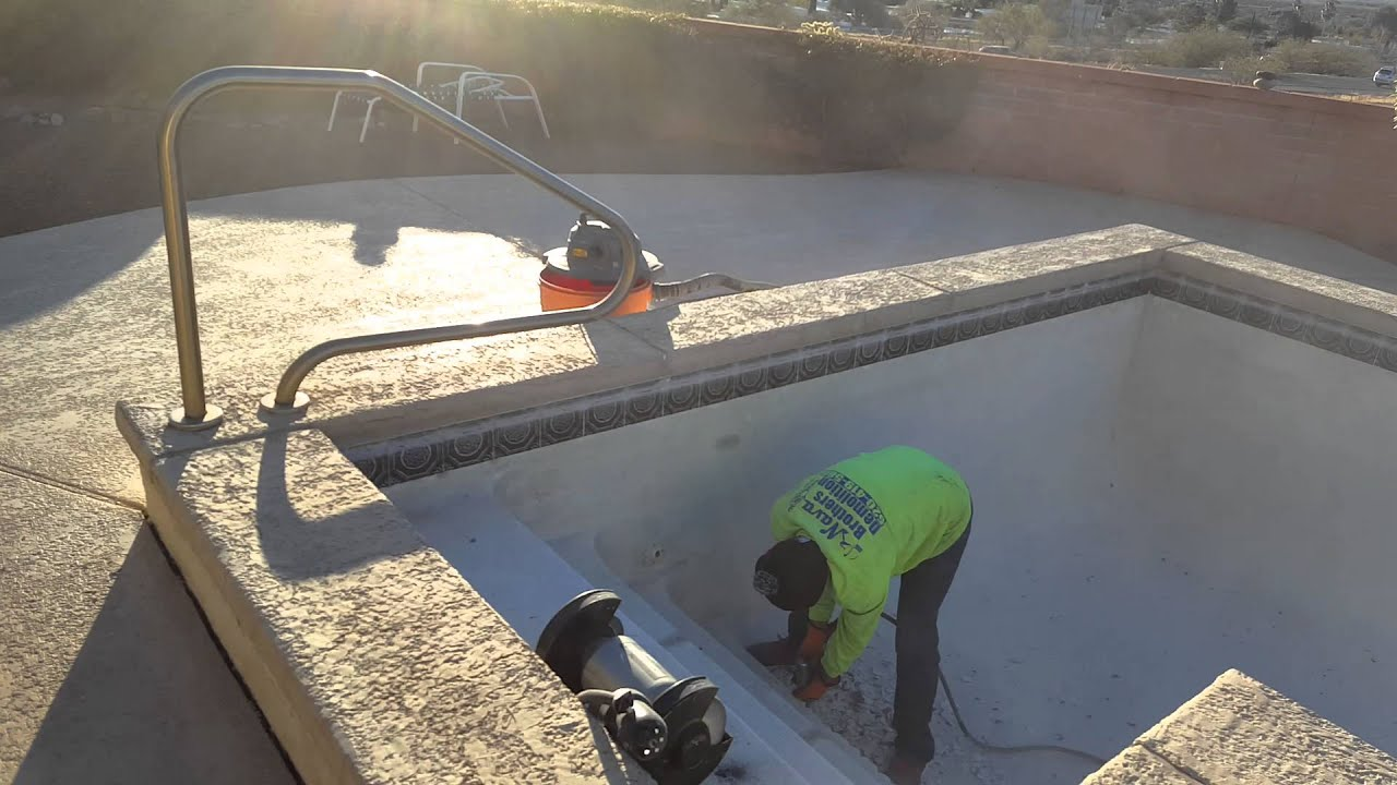 Starting To Remove The Plaster From The Pool Green Valley