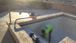 starting to remove the plaster from the pool green valley az 01272016