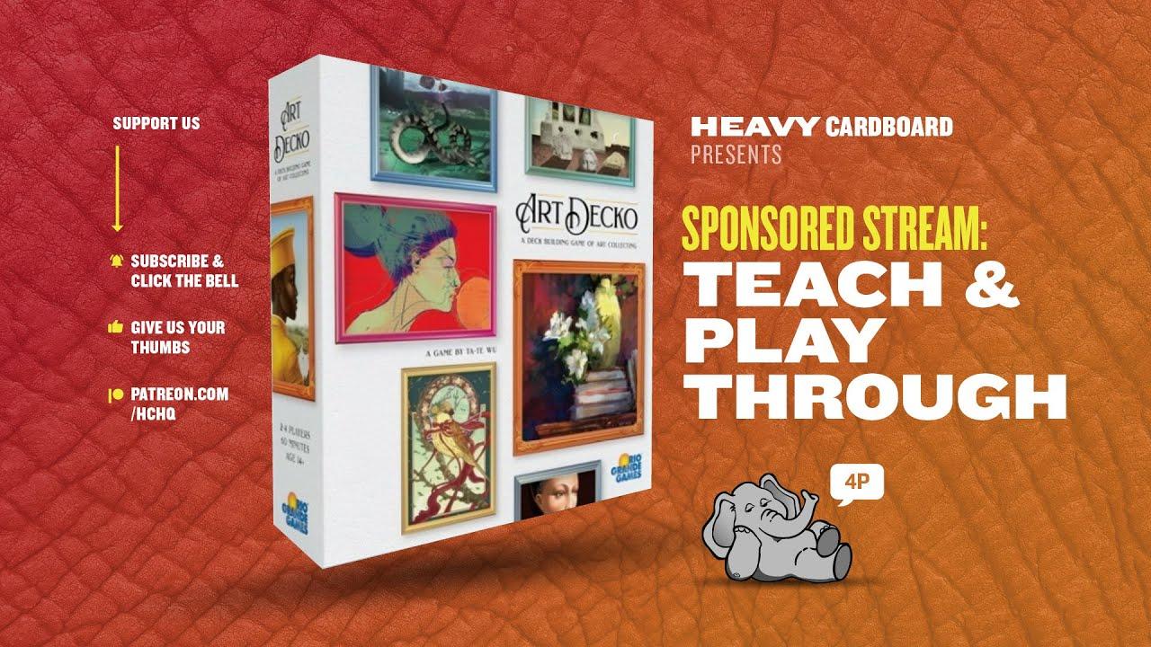 Art Decko - 4p Teaching & Play-through by Heavy Cardboard