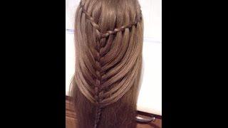 Fryzury Pazury - Spadający wodospad fryzura dla średnich włosów