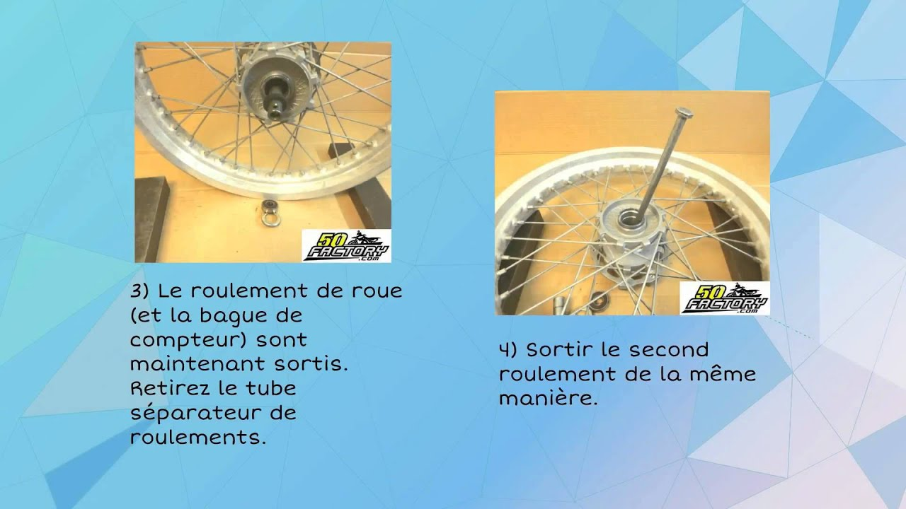 tuto changer ses roulements de roue moto ou 50 boite youtube. Black Bedroom Furniture Sets. Home Design Ideas