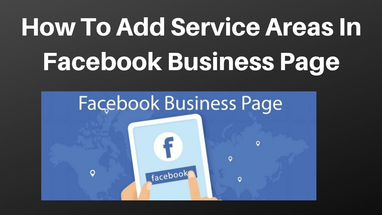 How to add service areas in facebook business page