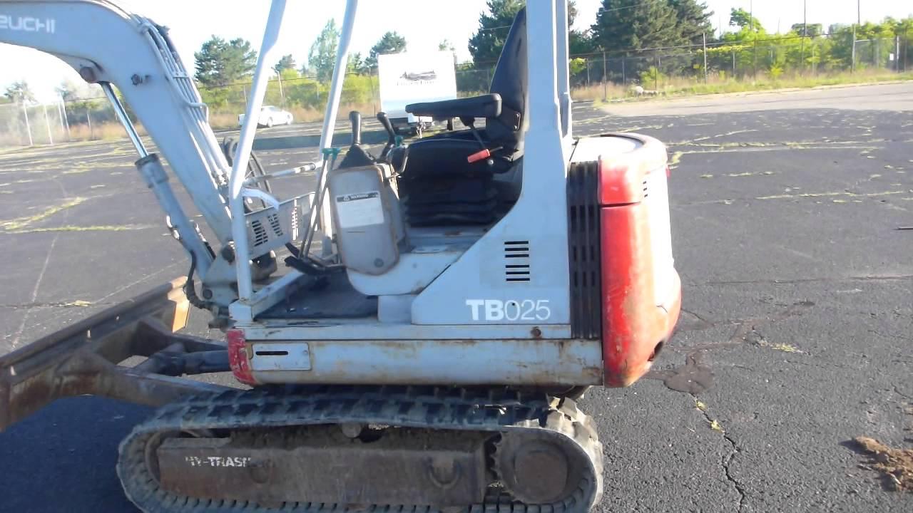 Tracks For Vehicles >> 1999 Takeuchi TB025 Mini Excavator - YouTube