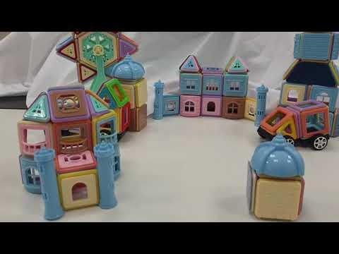 【培養兒童的創造力!益智磁吸積木】動手DIY 磁吸積木 益智木 培養邏輯思維 創造力 專注力 魔術積木 玩具 磁性建構片