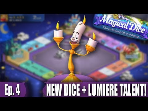 NEW DICE AND UNLOCKING LUMIERE'S TALENT! - Disney's Magical Dice: The Enchanted Board Game - Ep. 4
