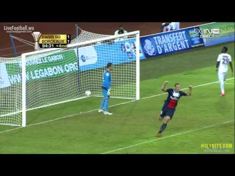 Alex score the winning goal PSG vs FC Girondins Bordeaux 2 1