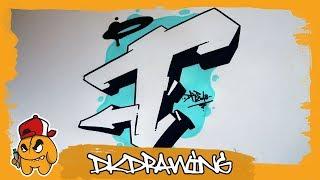 Graffiti Alphabet Tutorial - How to draw graffiti letters - Letter T