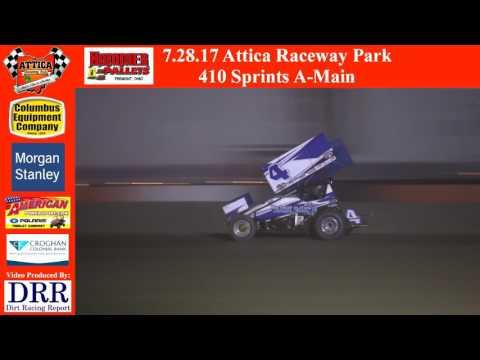 7.28.17 Attica Raceway Park 410 Sprints A-Main