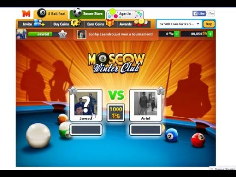 facebook game 8 ball pool 1000 price win though trick