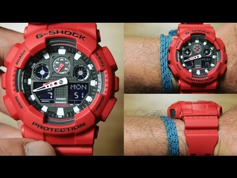 4820e93eeac7 Casio G-shock GA-100B-4A  RED EDITION
