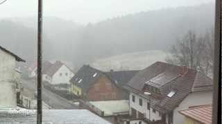 The Snow Falls in Germany