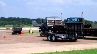 F-15 strike eagle taxi to runway at evansville airport 2011