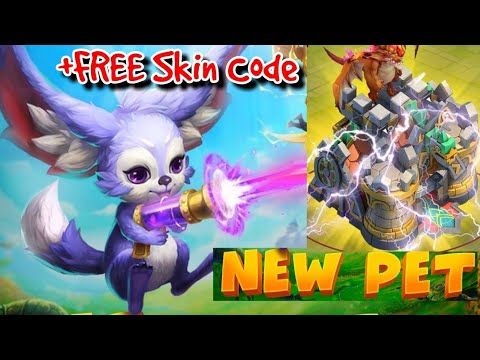 FREE Tower Skin Code! How To Claim And New F2P Pet Castle Clash