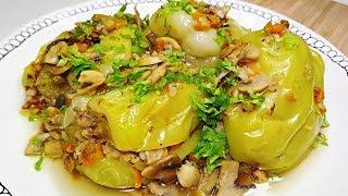 ЧУДО рецепт Фаршированного перца! Фаршированный перец с гречкой и курицей в грибном соусе.