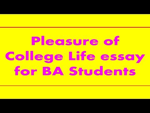 Pleasure Of College Life Essay For BA Students