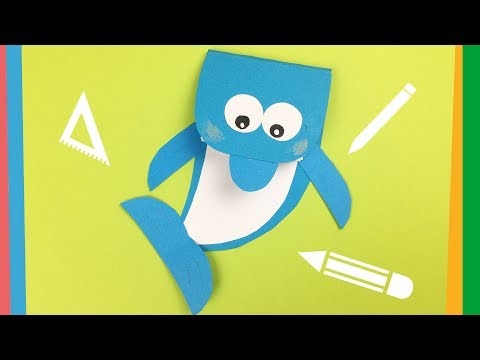 Dolphin notebook DIY   Creative and Easy back to school craft for kids