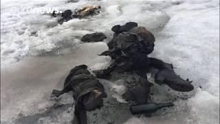 بالفيديو.. هذا ما وجد بجوار جثة زوجين فقدا قبل 75 عامًا بجبل جليدي