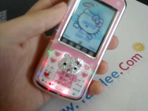 hello kitty 668 diamond perfume bluetooth touchscreen mp3 mp4 mobile phone