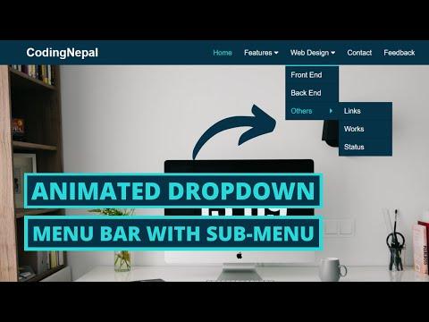 Animated Drop Down Menu Bar Using HTML & CSS   CodingNepal