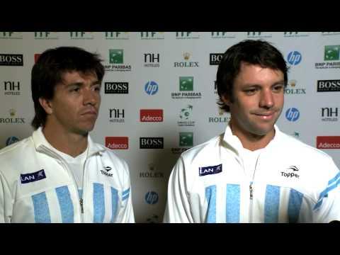 Official Davis Cup by BNP Paribas Interview - Carlos Berlocq and Horacio Zeballos (ARG)