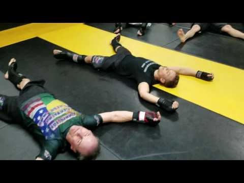 MMA end of sparring session