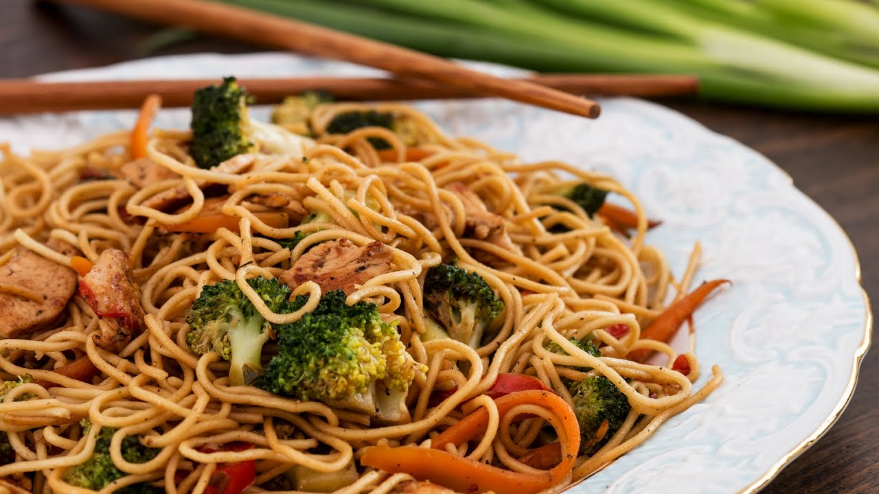 Noodles wok: cooking recipe at home 42