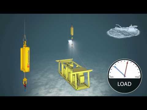 Subsea landing with Cranemaster passive heave compensator