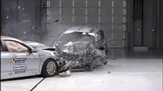 IIHS Crash Test Of Honda Accord Versus Honda Fit