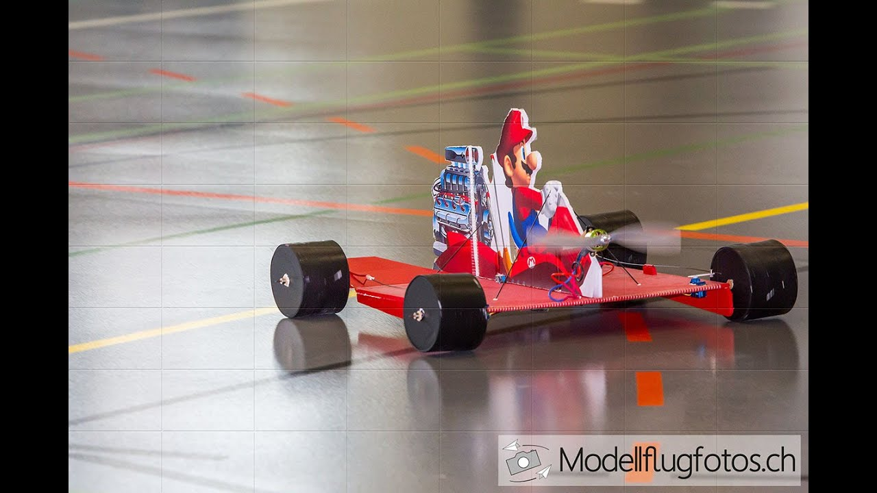 fly kart Super Mario can Fly!!! with he`s Rc Go Kart !!! at Indoorshow  fly kart