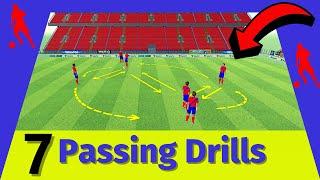 🎯Passing Combination Drills Soccer / 7 Passing Drills (2021)