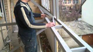 Как утеплить  и увеличить балкон(Увеличение и утепление балкона за счет смещения ограждения., 2016-03-29T20:03:55.000Z)