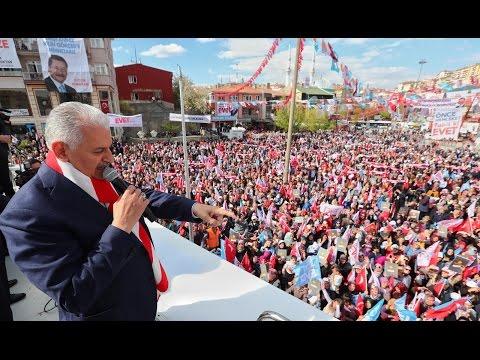 Başbakan Yıldırım, Ankara Keçiören'de halka hitap etti