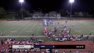 High School Football - King vs Norco