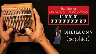 Download lagu SHEILA ON 7 - SEPHIA KALIMBA/THUMB PIANO COVER   TUTORIAL   EASY WITH TABS