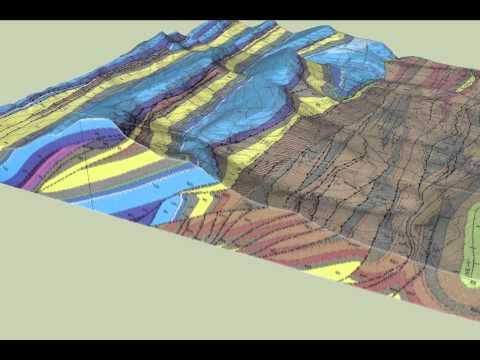 3D Block Diagram of the geology of the Castle Reef Quadrangle, Montana