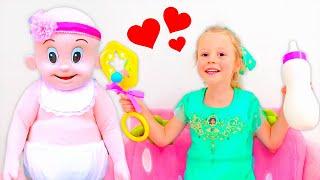 Nastya dan kisah tentang persahabatan dengan boneka besar