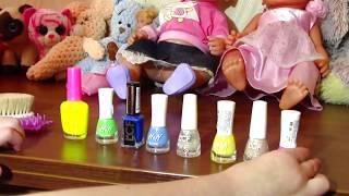 Play the beauty salon Paint the Nail Art designs   Baby Mania