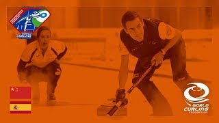 China v Spain - Round-robin - World Mixed Doubles Curling Championship 2018