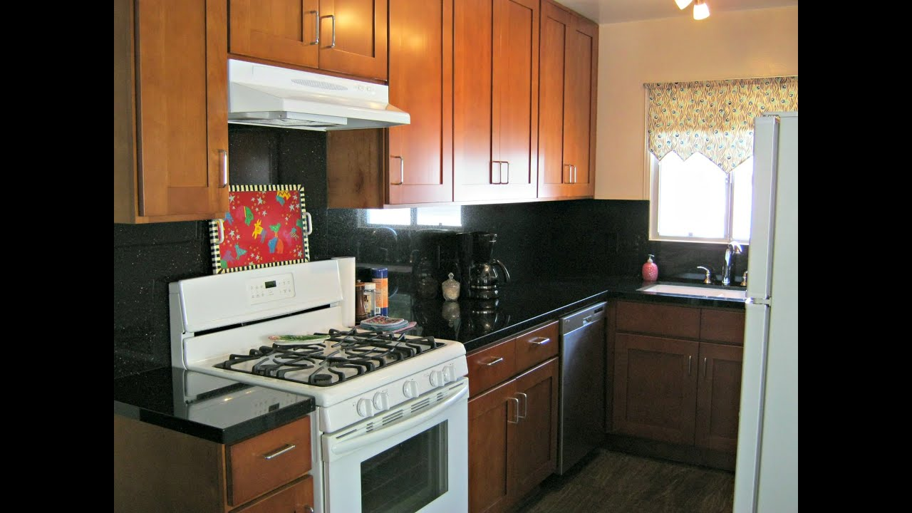 Galley Kitchen Remodel, Before-during-after