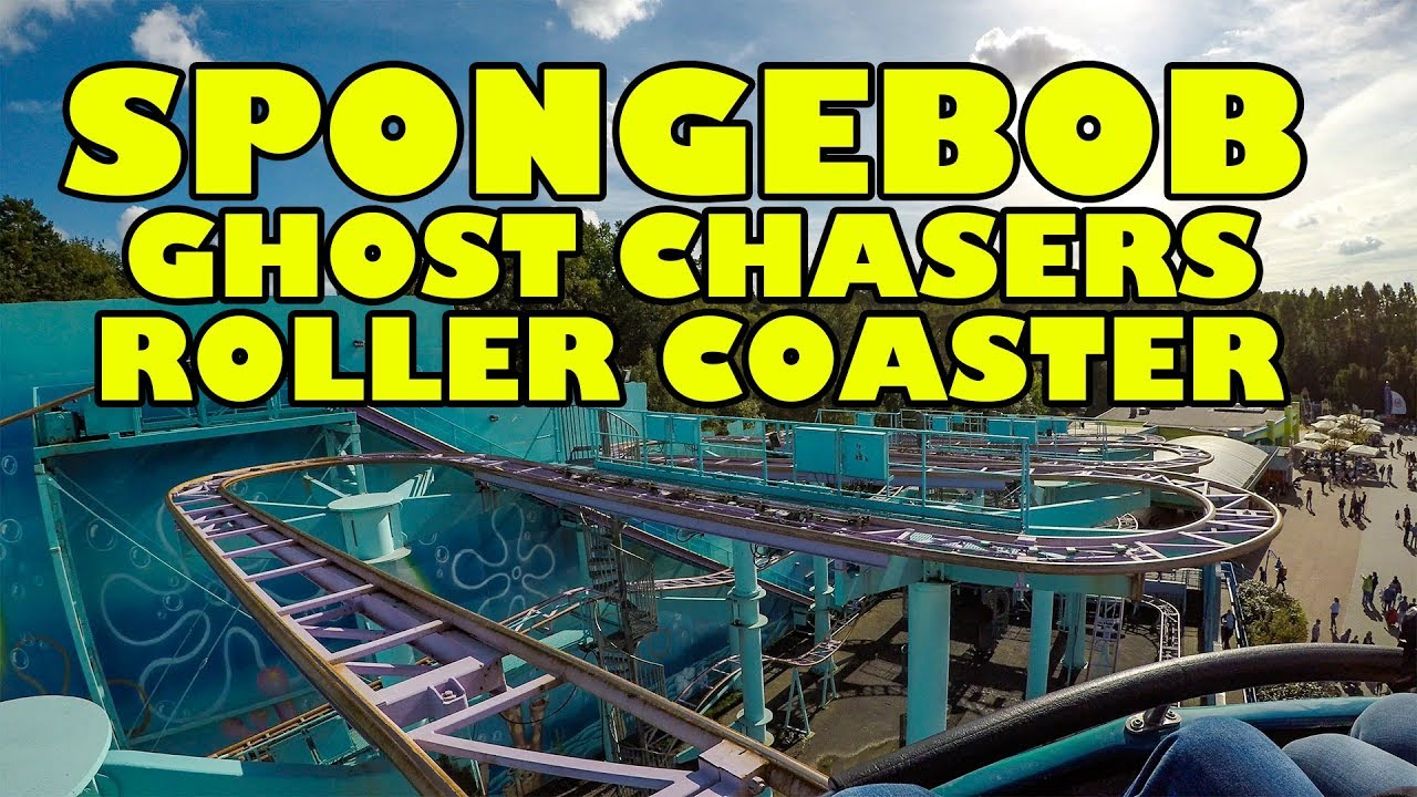 SpongeBob SquarePants Ghost Chasers Roller Coaster! Front ...  Spook