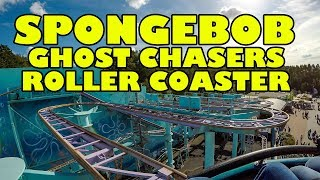 SpongeBob SquarePants Ghost Chasers Roller Coaster! Front Seat POV Movie Park Germany