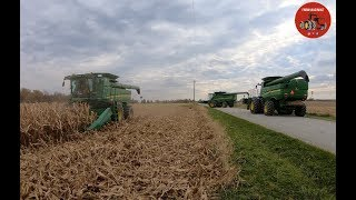 2018 Corn Harvest in Ontario Canada at Parkland Farms