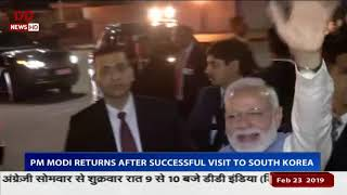 PM returns after a successful tour of South Korea