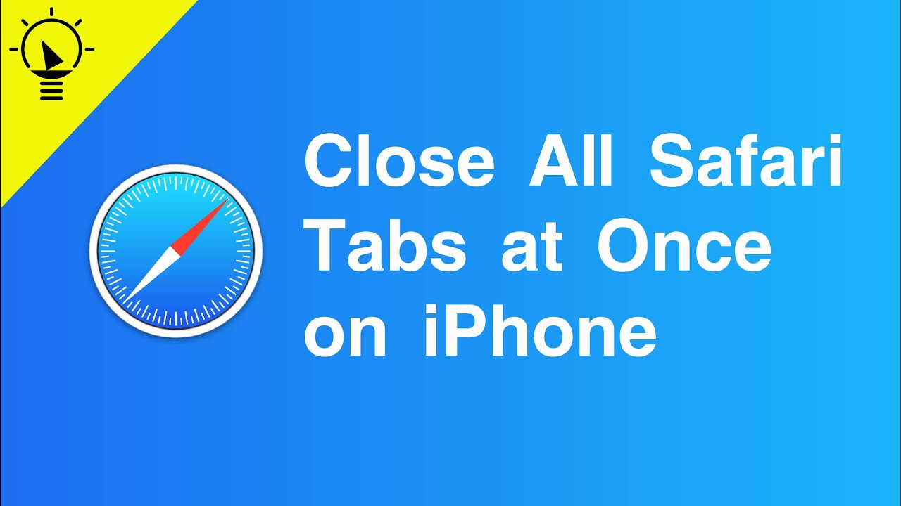 HOW TO CLOSE ALL SAFARI TABS ON iPHONE - YouTube