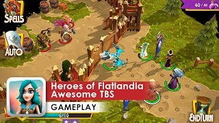 Heroes of Flatlandia Gameplay HD (iOS & Android) Heroes of Might and Magic on Minimals screenshot 1