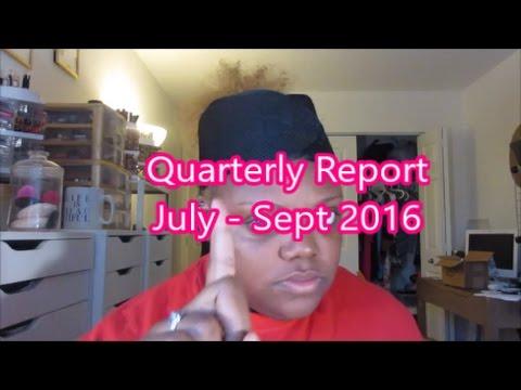 Quarterly Report (July - Sept 2016)