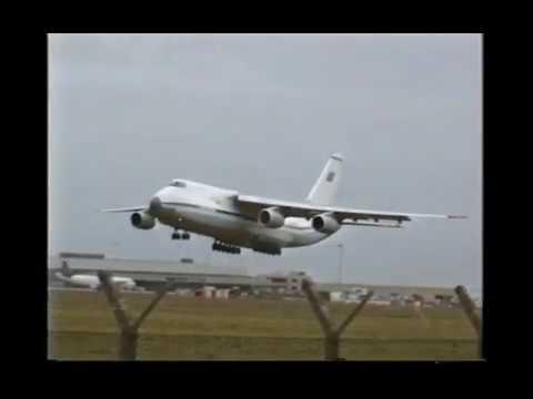 Antonov-124 Flies 201 GM EMD Class Locomotive Arrival At Dublin Airport.